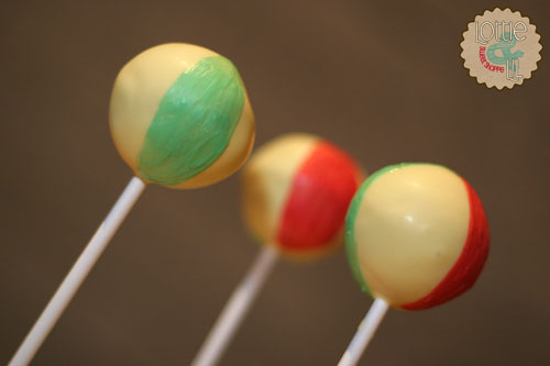 Beach Ball Cake Pops