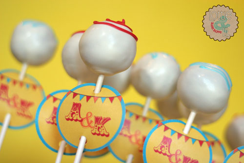 Circus Themed Wedding Cake Pops