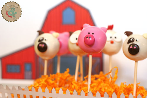 Barn Yard Cake Pops