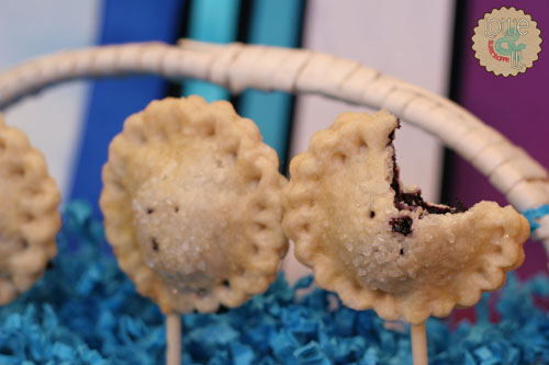 Berry Blue Pie Pops