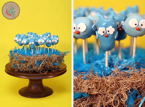 Owl and Blue Bird Cake Pops