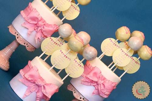 Lauren's Bridal Shower Cake Pops