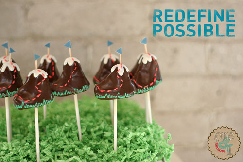 Redefine Possible Mountain Cake Pops