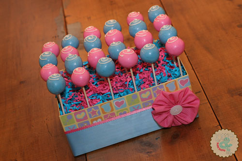 Pink and Blue Baby Shower Cake Pops