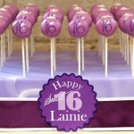 Purple Sweet 16 Cake Pops