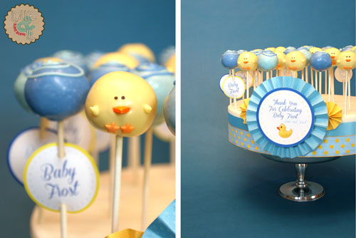 Blue and Ducky Baby Boy Cake Pops