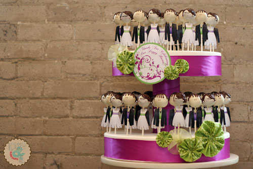 Bride and Groom Tiered Cake Pops