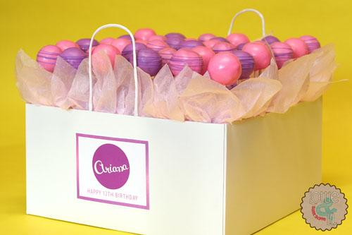 Shopping Bag Cake Pops