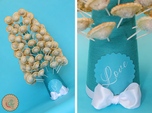 Turquoise Pie Pop Tree