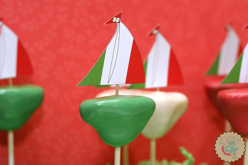 Italian Sailboat Cake Pops