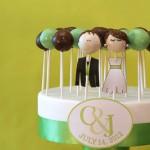 Key Lime Tiered Cake Pop Wedding Cake