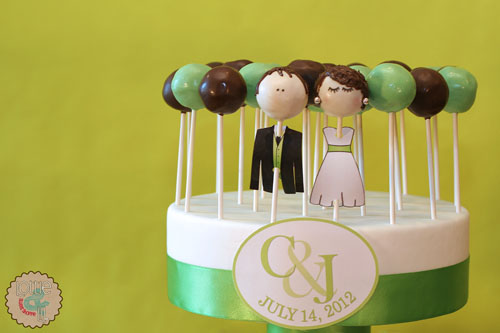 Key Lime Tiered Cake Pop Wedding Cake