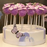 Purple Butterfly Cake Pops