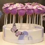 Purple Butterfly Cake Pops