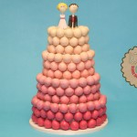 Pink Ombre Cake Ball Wedding Cake