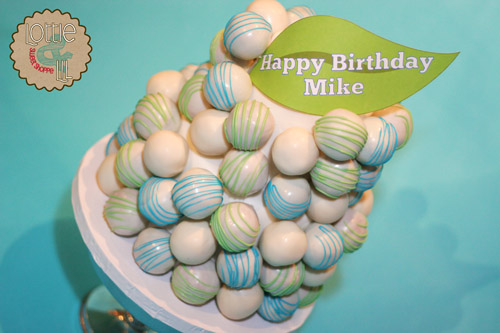 Cake Ball Birthday Cake
