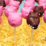 Three Little Pigs Cake Pops