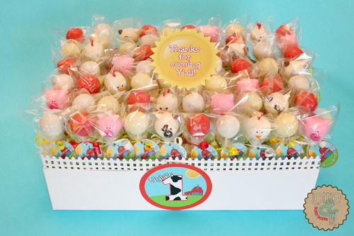 Barn Yard Birthday Cake Pops
