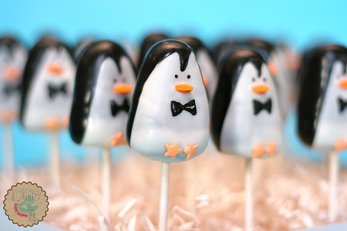 Mary Poppins Penguin Cake Pops