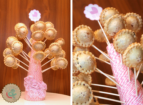 Pink Baby Shower Pie Pops