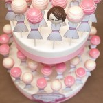 Pink Tiered Bridal Shower Cake Pops