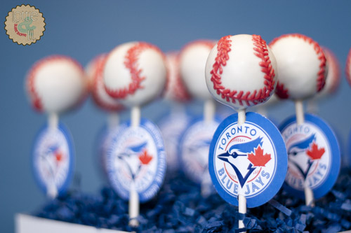 Blue Jays Cake Pops