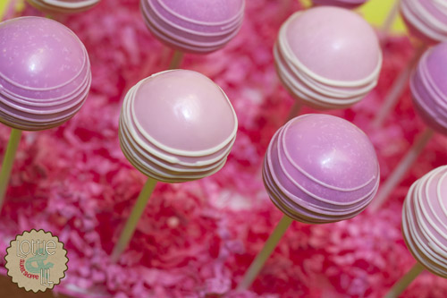 Pink Drizzle Baby Shower Cake Pops