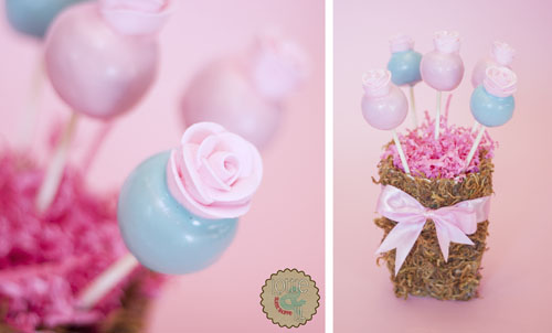 Shabby Chic Birthday Cake Pops