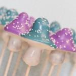 Blue and Purple Mushroom Cake Pops