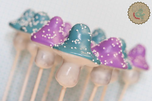 Blue and Purple Mushroom Cake Pops