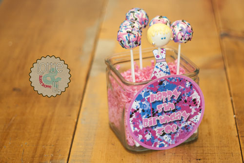 Splatter Dress Cake Pops