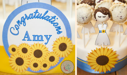 Sunflower Dress Cake and Pie Pops