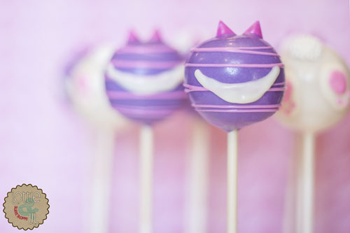 Cheshire Cat and Bunny Bottom Cake Pops