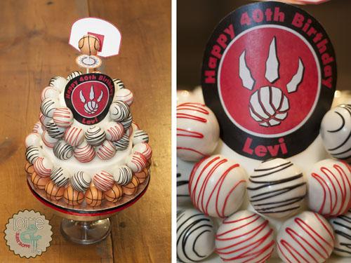 Toronto Raptors Cake Ball Cake