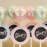 Baby Boy and Girl Feet Cake Pops