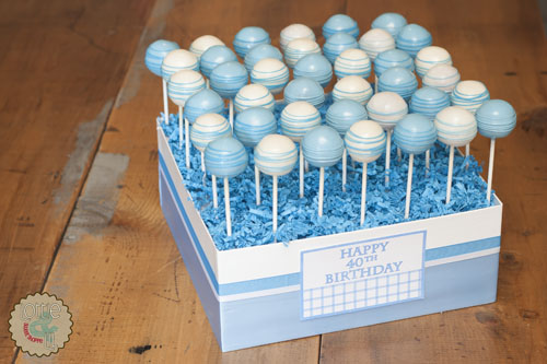 40th Birthday Cake Pops