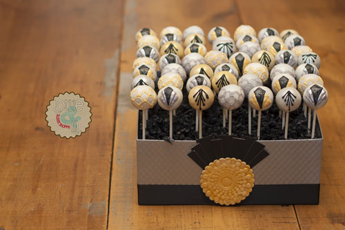 Art Deco Cake Pops