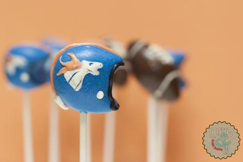 Denver Broncos Football Cake Pops