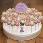 Pink and Gold Cake and Pie Pops
