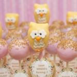 Elegant Owl Birthday Cake Pops