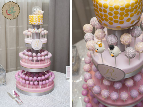Pink Ombre and Gold Cake Pops